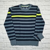 Mens Vintage Tommy Hilfiger Cotton Sweater Jumper Striped Size M