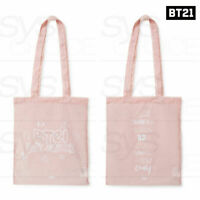 BTS BT21 Official Authentic Goods Pink Collection Pink Nylon Bag 2TYPE + Track#