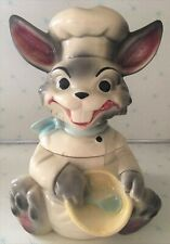 Vintage Brush McCoy Pottery W 25 Happy Bunny Rabbit Chef Cookie Jar 1960