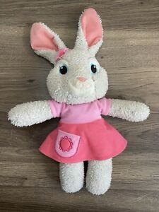 "Nickelodeon Lily Bobtail Girl Bunny Gray Stuffed Animal Plush 12"" GUND Pink"