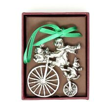 Arthur Court Easter Bunny Rabbit On Bicycle Ornament 2005 with Original Box