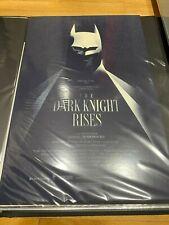 The Dark Knight Rises Movie Poster Mondo Art Olly Moss Batman Christopher Nolan