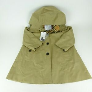 Burberry Children Tan Hooded Trench Coat Size 6Y NEW NWT  $450