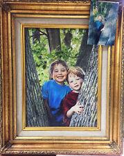 """Family Heirloom"" - Hand Painted Photograph NEWLY CUSTOM FRAMED Giclee on Canvas"
