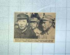 1949 Latest Picture Of Mao-tse-tung With General Chu Teh