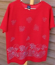 Women's Red Shirt by L.A. Lights; Size:  Small