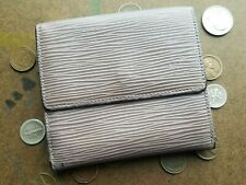 Vtg / Louis Vuitton / Gray Lilac / Epi Leather / Trifold Wallet w/ Minor Issue*