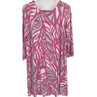 Lilly Pulitzer Womens M Medium Pink Floral Midi Dress Ladies
