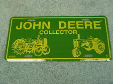 JOHN DEERE TRACTOR COLLECTOR  ALUMINUM LICENSE PLATE