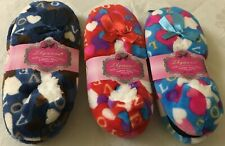 WOMEN'S 3 PAIRS OF SLIPPER SOCKS NON SLIP -'Lovehearts' BRAND NEW REDUCED
