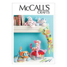 McCall's 6485 Easy Sewing Pattern to MAKE Five Stuffed Animal Plush Toys