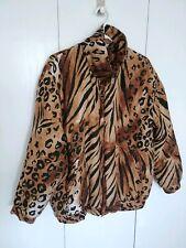 Silk Leopard and Tiger Print Windbreaker Bomber Jacket by Fuda International