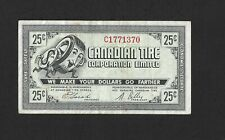 1972 Canadian Tire 25 Cents CTC G07-E-C   Gas Bar Coupon