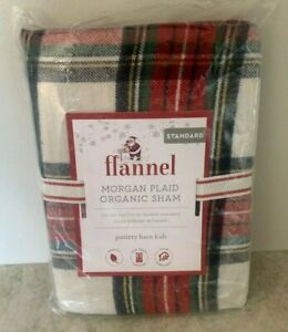 Pottery Barn KIDS teen Morgan Plaid Flannel STANDARD sham matches duvet