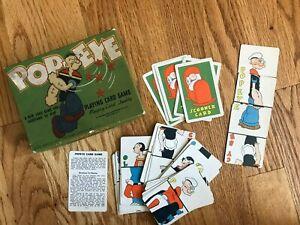 Vintage 1934 Popeye Playing Card Game Whitman Publishing Co.