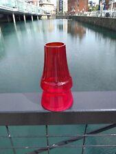 More details for riihimaki 'piippu' chimney red glass vase, aimo okkolin, 1960's