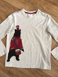 Hanna Andersson Boy's Shirt Band Bear 130  8 years
