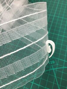 CURTAIN CLEAR HEADING HEADER TAPE 3inch/8 cm ONLY( £1.20 PER 1 M) A+++ QUALITY