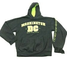 Washington DC Sweater Hoodie Size Medium M Gray Pullover Long Sleeve Hooded Mens