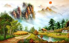3D Forest sun oil painting wallpaper Decal Dercor Home Kid Nursery Mural  Home