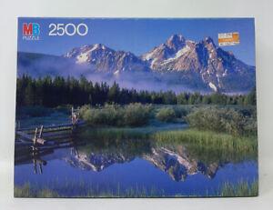 VTG Sealed 1986 MB Grand Puzzle 2500 piece Mountain Sawtooth Range, Idaho 4870-1