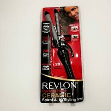 "🆕 REVLON Perfect Heat Ceramic DUAL PRESS, Spiral & 1"" Styling Iron, RV 067 C"