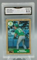Mark McGwire Rookie Card - Topps - GMA (PSA) 8.5 NM to Mint+