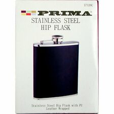 BRAND NEW BLACK PRIMA 7 OUNCE HIP FLASK