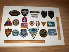 VINTAGE 20 ITEM MIXED MILITARY PATCH LOT = OLD AND NEW PATCHES MIXED