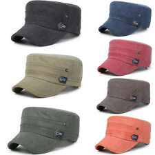 Men Women Distressed Army Plain Hat Cadet Military Sport Visor Sun Cap Golf BGO