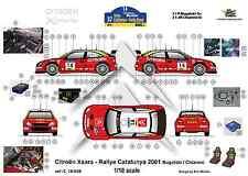 [FFSMC Productions] Decals 1/18 Citroën Xsara Rallye De Catalogne (Espagne) 2001