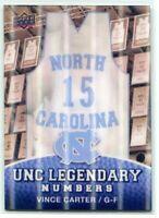 2010-11 Upper Deck North Carolina Legendary Numbers 3d 5 Vince Carter