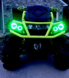 Can-Am Outlander Halos Set Of 4 Green  Gen 2 And Xmr CANAM