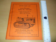 Allis Chalmers Model HD 7 Tractor Repair Parts List  Original, complete