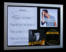 JUSTIN BIEBER Boyfriend LTD TOP QUALITY CD FRAMED DISPLAY+EXPRESS GLOBAL SHIP!!