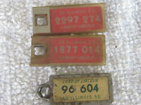 3 Illinois Disabled American Veterans License Plate Tag Charm