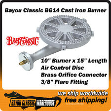 Bayou Classic BG14 High Pressure Cast Iron Burner for LP Propane Gas Cookers