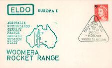 "ELDO-4 FDC AUSTRALIE WOOMERA ""Lancement Fusée EUROPA I - Vol F.6/2."" 1967"