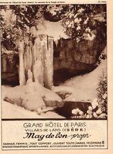CHAMONIX LES AIGUILLES MONT BLANC SYNDICAT D INITIATIVE PUBLICITE 1932 AD