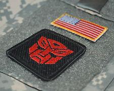 """US ADVISORS in Syria URBAN WARFARE burdock 2"""" 2-TAB: US Flag + Transformer"""