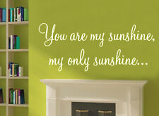 You are my sunshine wall art sticker nursery quote vinyl decor