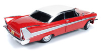 1958 PLYMOUTH FURY CHRISTINE NIGHT VERSION RED 1:18 BY AUTOWORLD AWSS102