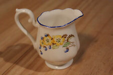 Royal Albert Crown China Creamer England Flowers Floral Blue Yellow Red