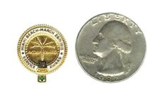 Miami Beach Service Award - 10 Years - 10K Gold Lapel Pin