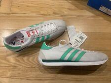 UK10.5 Adidas Country Trainers White Mint Green Red Originals Nylon Running BNIB