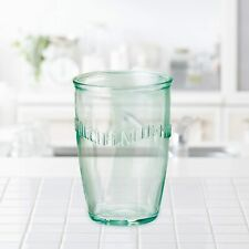 Amici Home Italian Recycled Green Euro Milk Glass Drinkware, 13 oz - Clear