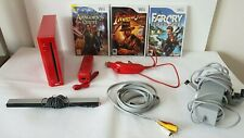 RED Limited Edition NINTENDO WII GAMES CONSOLE BUNDLE