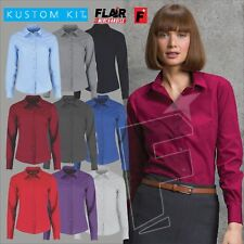 Kustom Kit Women's Long Sleeve Poplin Shirt,