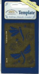 American Traditional Designs Template -  Dragonflies in Flight - 979 - Embossing