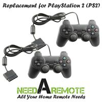 2 For Sony Playstation 2 PS2 Video Game Console Remote Controller Wired